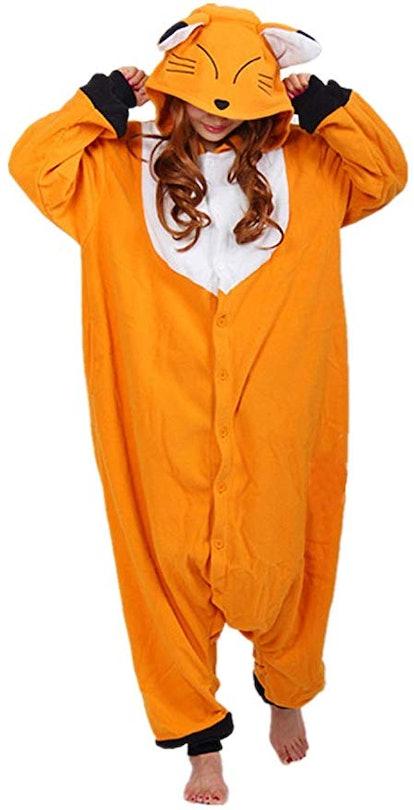 WOTOGOLD Animal Cosplay Costume Fox Unisex Adult Pajamas