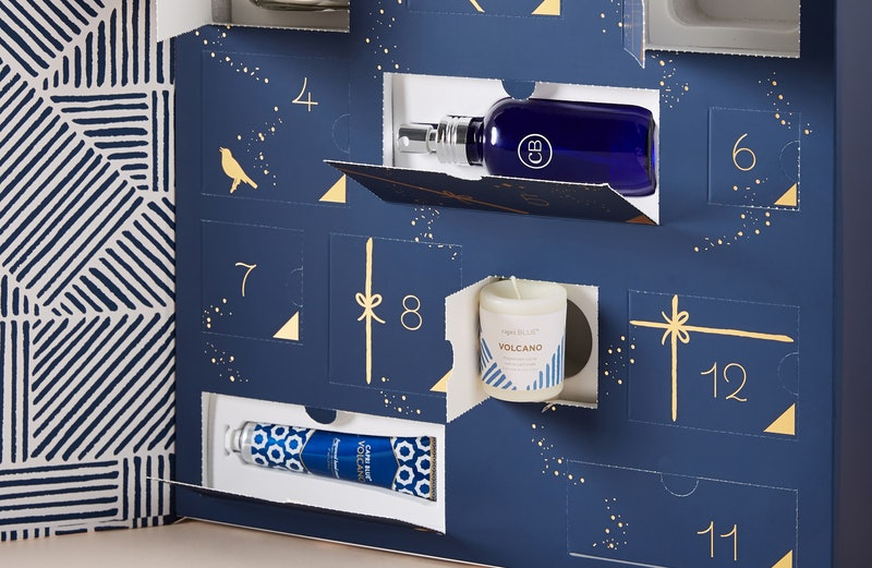 Products revealed from Anthropologie's Capri Blue 12 Days of Volcano Holiday Gift Set.