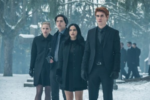 Betty, Archie, Veronica, and Jughead in Riverdale.