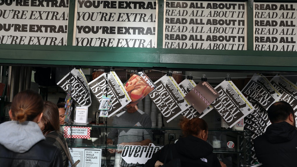 The 'Overheard Post' from @OverheardNewYork is unlike any newspaper you've seen before.