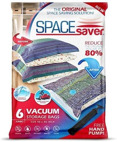 SpaceSaver Premium Reusable Vacuum Storage Bags (6-Pack)