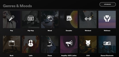 Genres and Moods playlists on Spotify are a good way to find new music