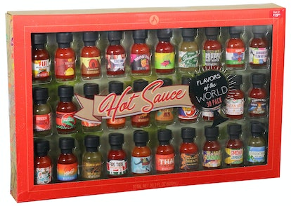 Walmart's gift set of hot sauces includes bottles from all around the world.