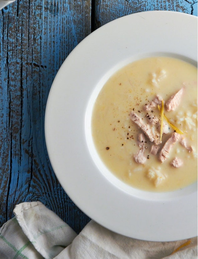 The Avgolemono soup recipe from The Messy Baker is an easy way to remake leftovers into a delicious new meal