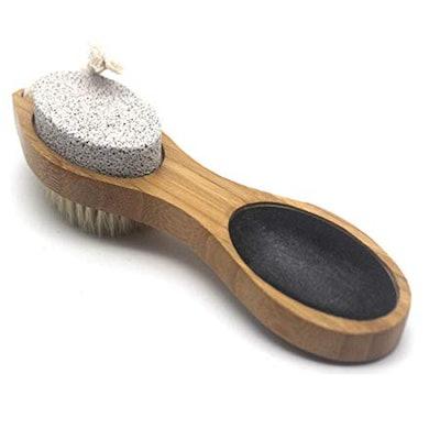 Aggice Bamboo 4-in-1 Foot Tool