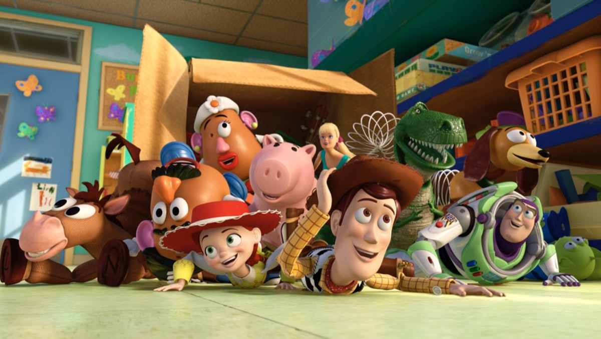 The toys from 'Toy Story 3' would make a great Disney group costume for Halloween.