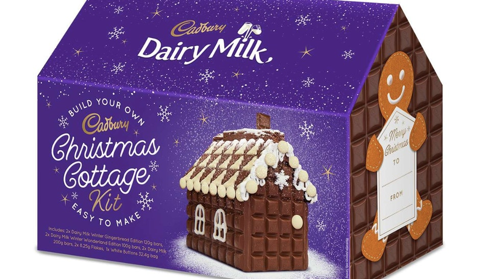 The Cadbury Dairy Milk Christmas Cottage Kit.