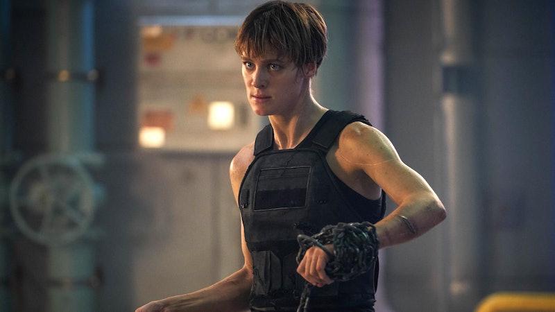Mackenzie Davis as Grace in Terminator: Dark Fate