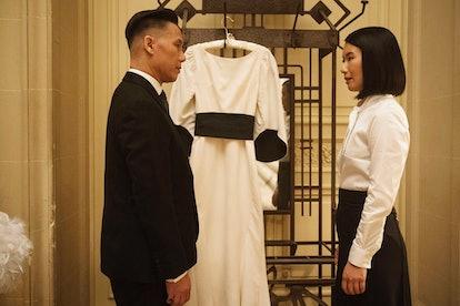 BD Wong as Minister Zhang and Jing Xu as Wang Shu in Mr. Robot