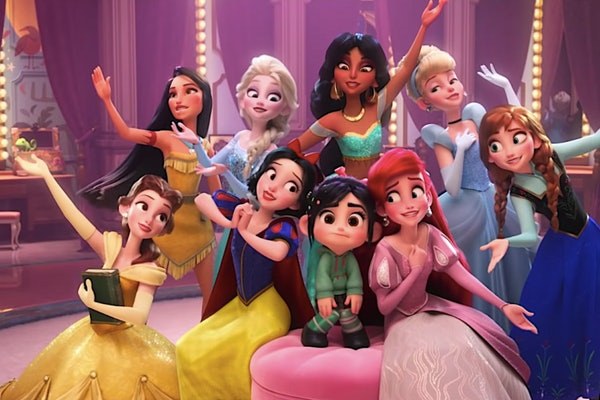 The Disney princesses would make a great Disney group costume for Halloween.