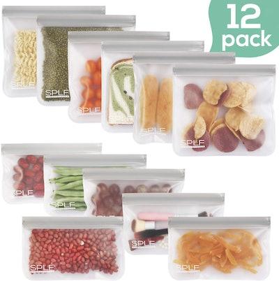 SPLF FDA Grade Reusable Storage Bags (12-Pack)