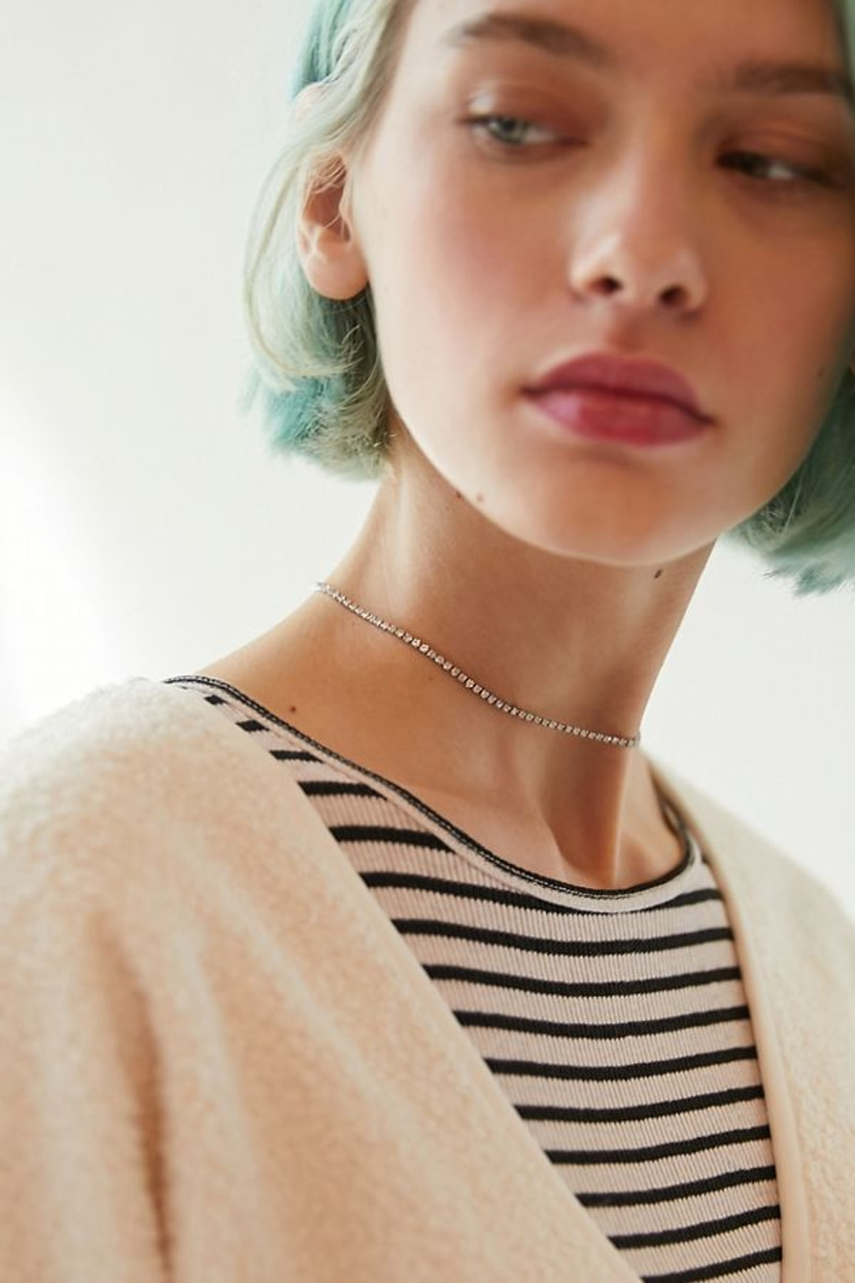 Delicate Rhinestone Choker Necklace