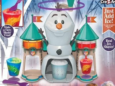 Frozen 2 Olaf-shaped slushy treat maker for shaved ice