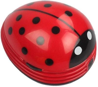 E Ecsem Mini Ladybug Desktop Vacuum