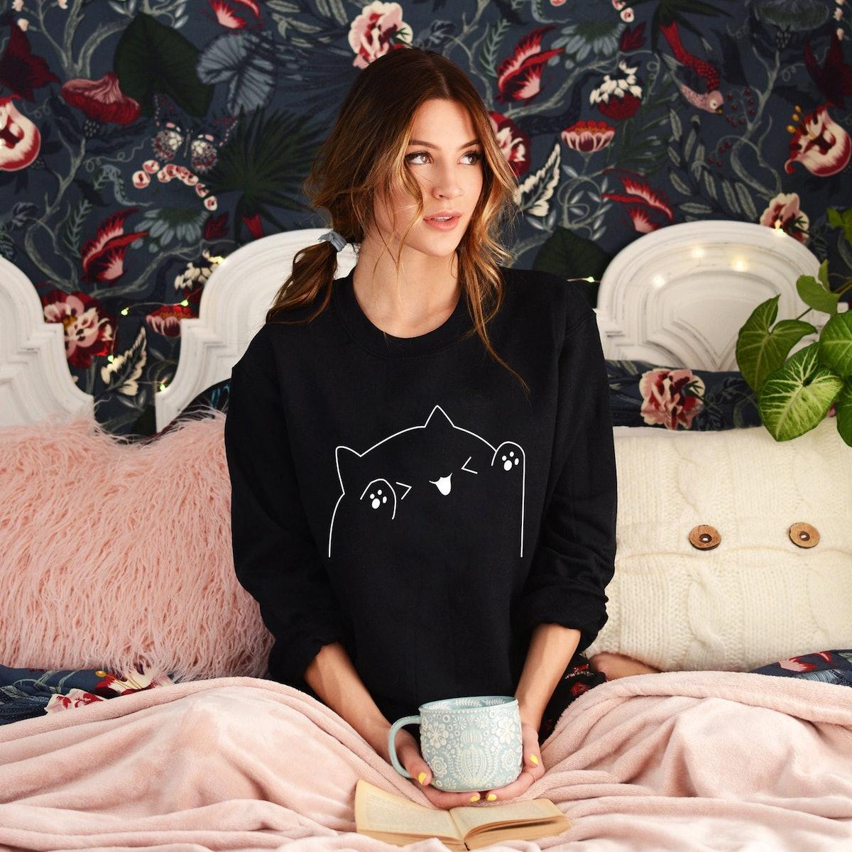 Women's Bongo Cat Sweatshirt