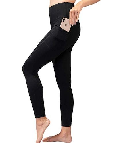 90 Degree By Reflex High-Waisted Fleece-Lined Leggings