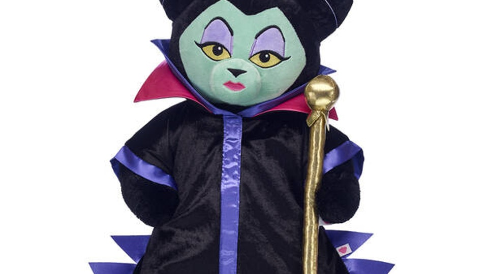 Maleficent Build-A-Bear doll in robe