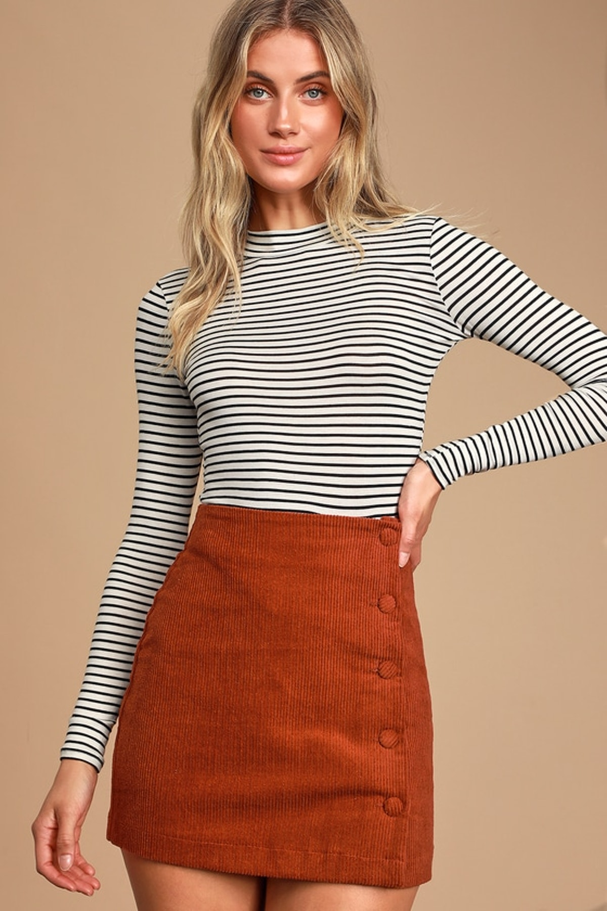 Anything is Posh-ible White Striped Top