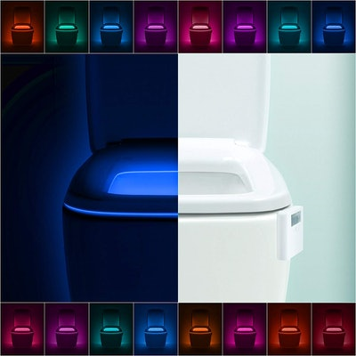 LumiLux Advanced 16-Color LED Toilet Bowl Night Light
