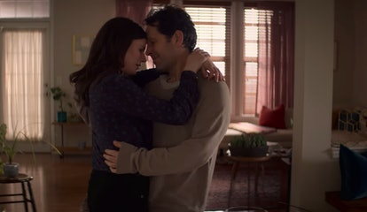Aisling Bea and Paul Rudd as Kate and Old Miles, dancing together in Living With Yourself.