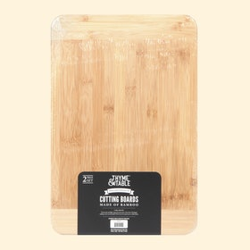 Thyme & Table 2 Pack Bamboo Cutting Boards