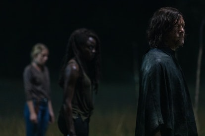 Danai Gurira as Michonne, Norman Reedus as Daryl Dixon in The Walking Dead
