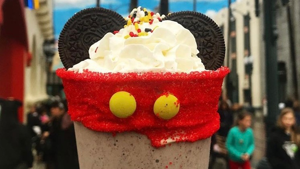 The Mickey milkshake is a Mickey-shaped food at Disney that's a must-try.