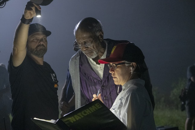 "'Watchmen"" Director Nicole Kassell on the set of the HBO series"