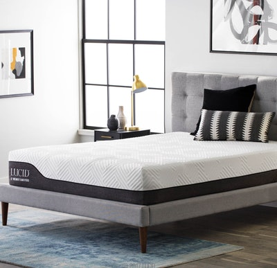 LUCID 12-Inch Hybrid Mattress With Motion Isolating Springs