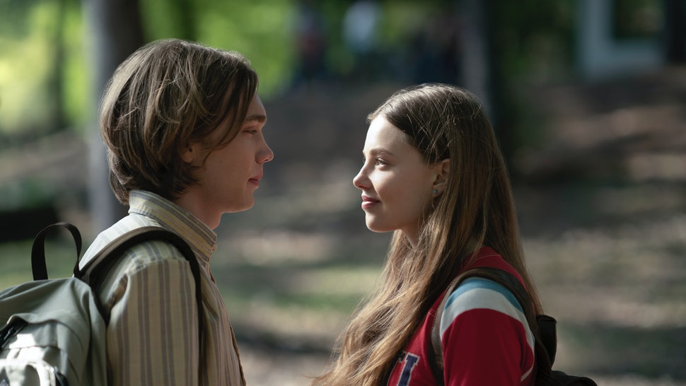 Charlie Plummer and Kristine Froseth, the two stars of Hulu's 'Looking For Alaska,' in a scene from the show.