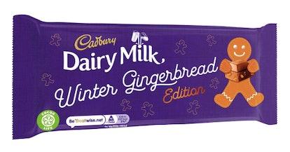 Cadbury Dairy Milk Winter Gingerbread Edition.