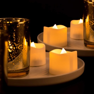 Homemory Tea Lights With Built-In Timer (set of 12)