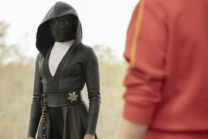 Regina King as Angela Abar in her Sister Night costume in Watchmen