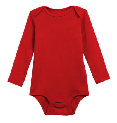 The Long Sleeve Babysuit in Cherry