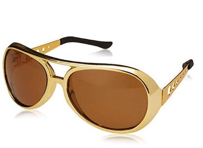 Kangaroo Gold 60s Rock Star Aviator Sunglasses