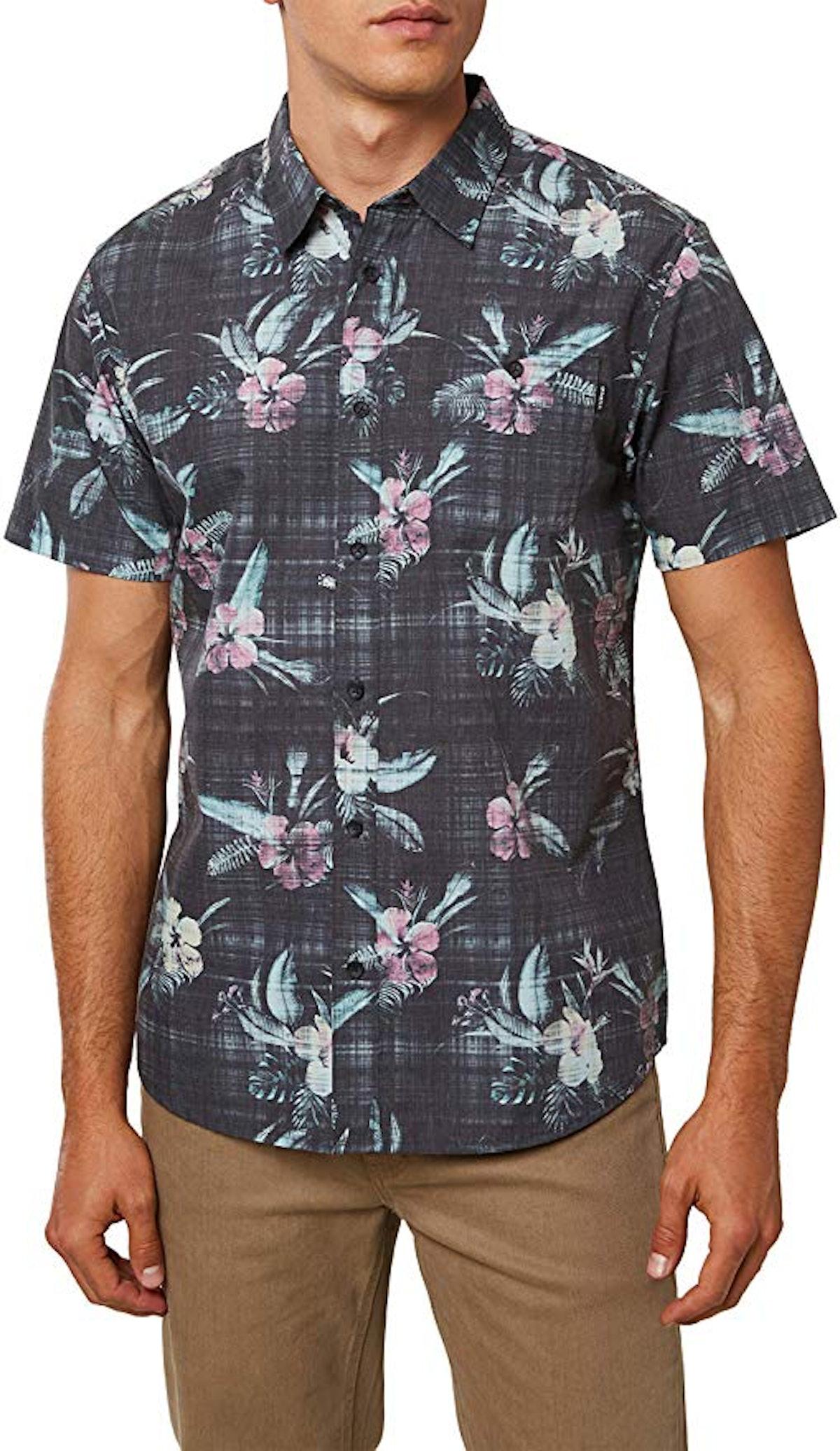 O'NEILL Men's Standard Fit Short Sleeve Button Down Shirt