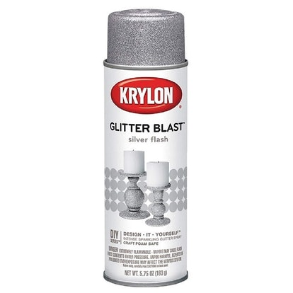 Krylon K03802A00 Glitter Blast, Silver Flash, 5.75 Ounce