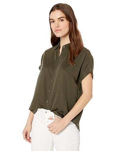 Daily Ritual Tencel Relaxed Fit Button-Down