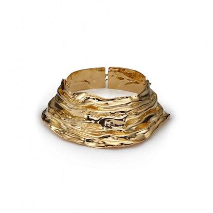 Gold-Plated Draped Choker
