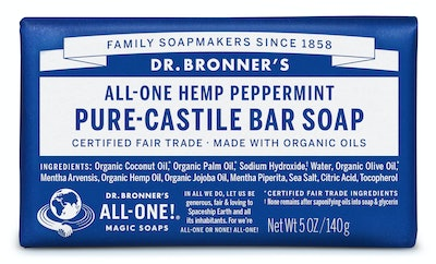 Dr. Bronner's Peppermint Bar Soap, 2 Pack