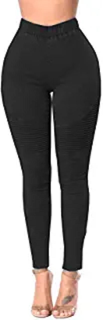 Womens High Waist Skinny Jeans Leggings Stretch Denim