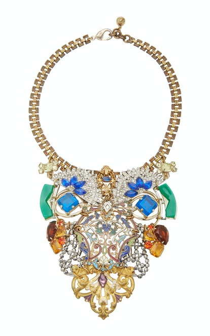 One-of-a-Kind Gold Plated Crystal Necklace