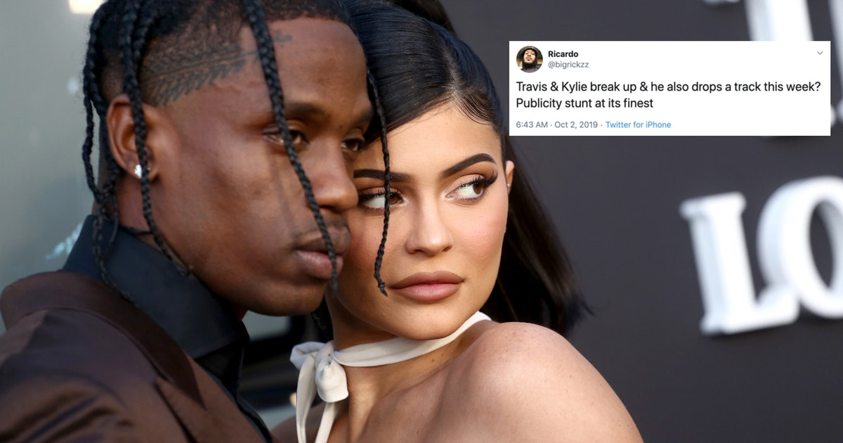 10 Tweets About Kylie Jenner & Travis Scott's Reported Breakup Being A PR Stunt