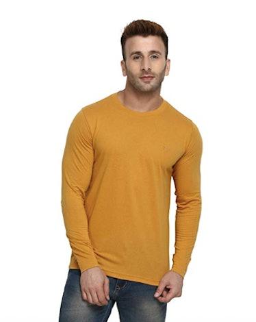 Men's Long Sleeve Cotton Round Neck Tshirt