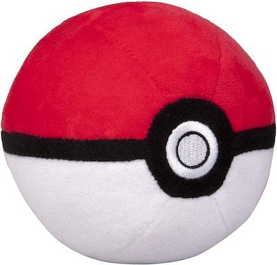 "Pokémon 4"" Pokéball Plush - Soft Stuffed Poké Ball with Weighted Bottom"