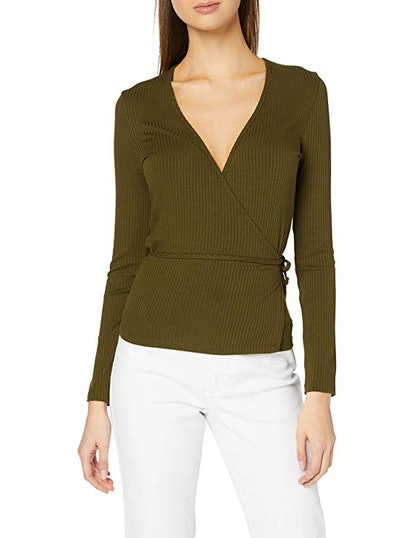 find. Long Sleeve Wrap Top