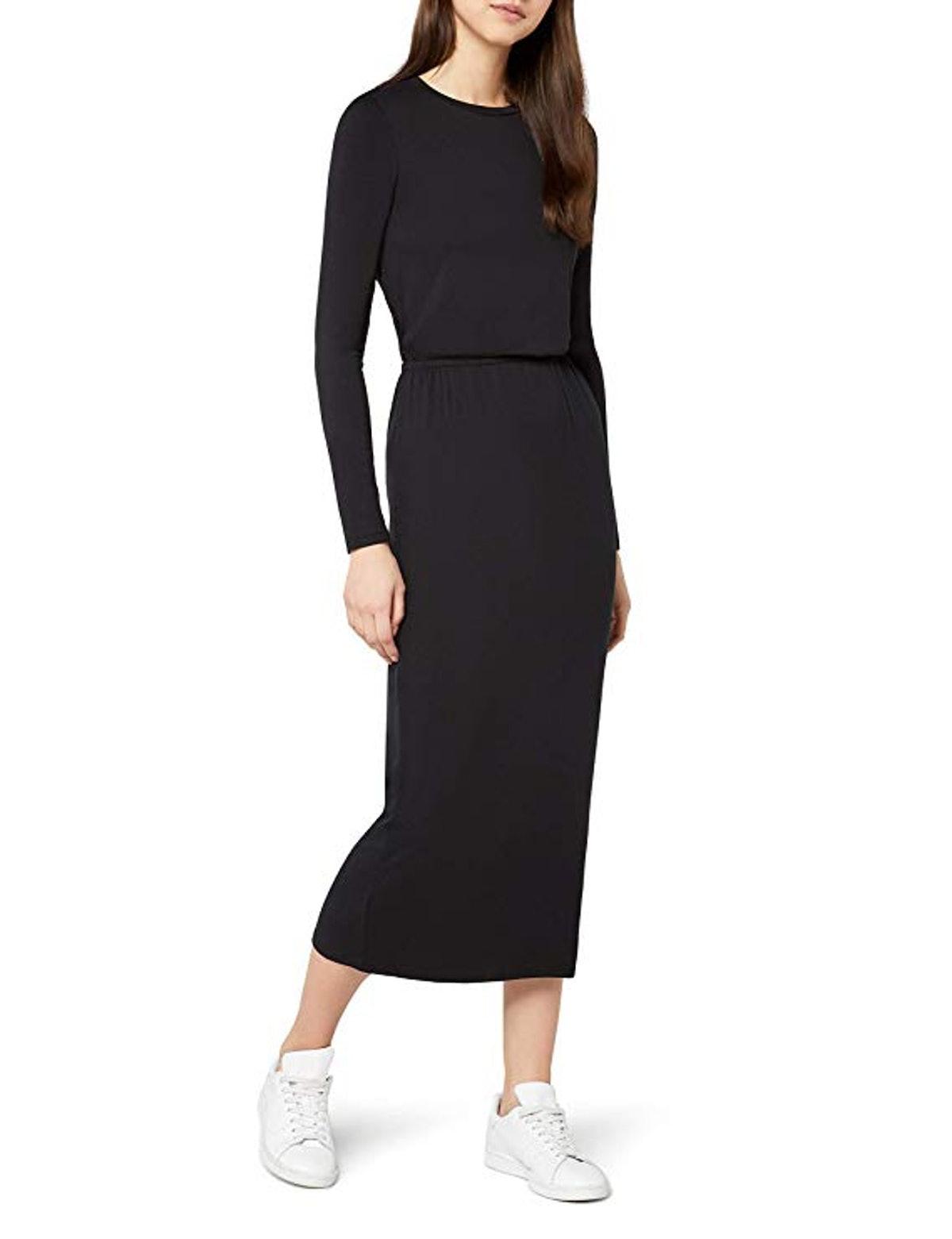 find. Elastic Waist Jersey Maxi Dress