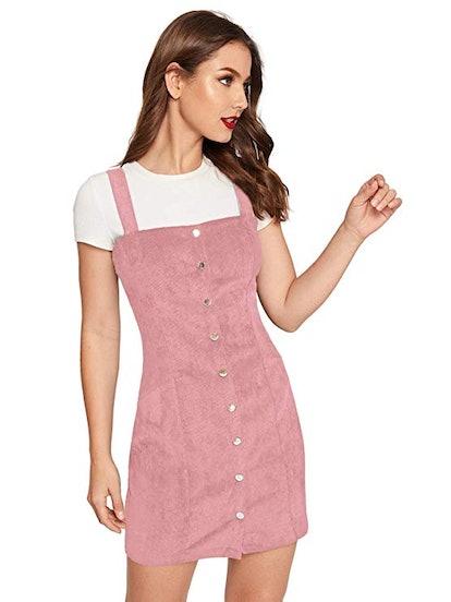 Floerns Corduroy Pinafore Dress