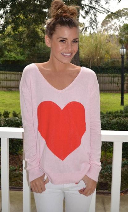 The Love Heart Angora Sweater