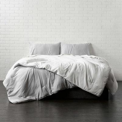 Reversible Brushed Microfiber Plush Down-Alt Comforter Set